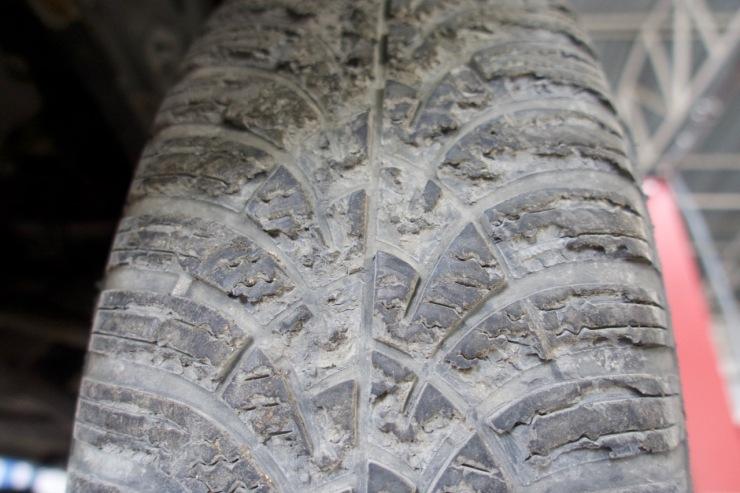 Reifen nach Doblo-Offroadfahrt