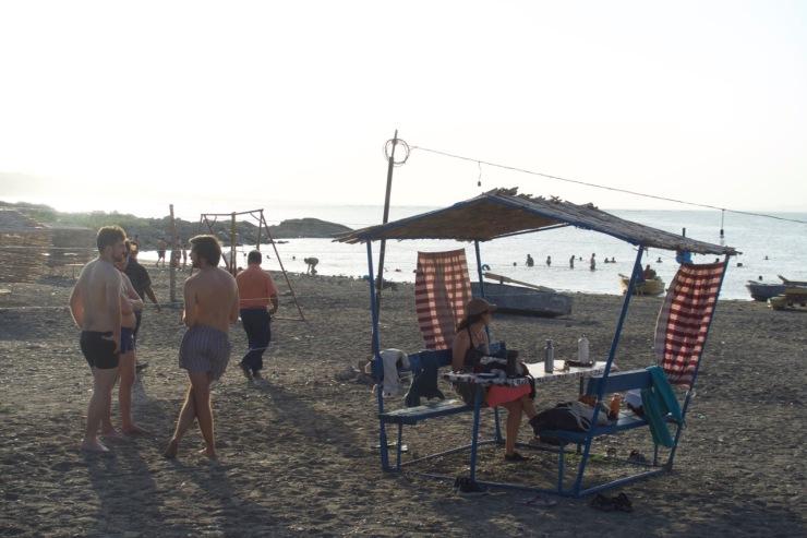 Strand am Stausee